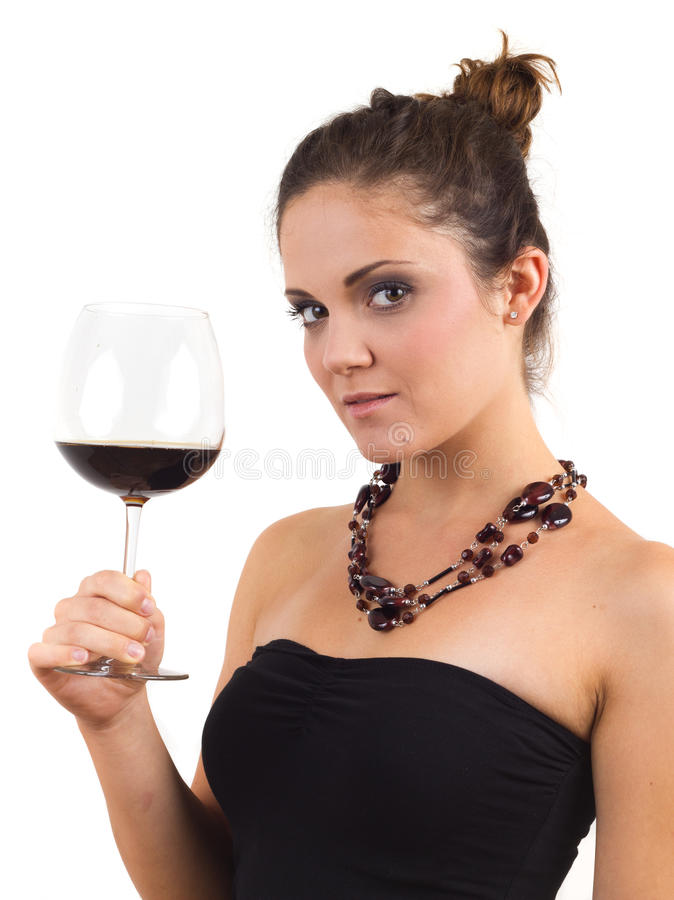 Download Woman Holding A Glass Of Wine Stock Image - Image: 20839291