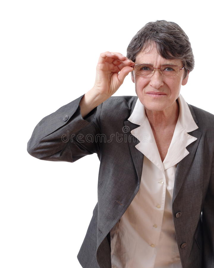 Woman Holding Glasses Royalty Free Stock Photography