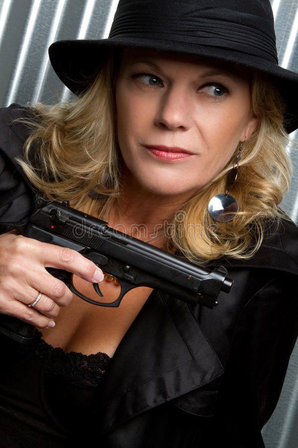 Download Woman Holding Gun Royalty Free Stock Photos - Image: 13583708