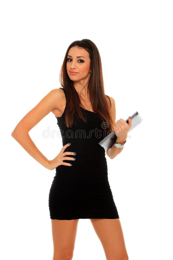 Download Woman Holding In Hand A Tablet Touch Pad Stock Image - Image: 22394051