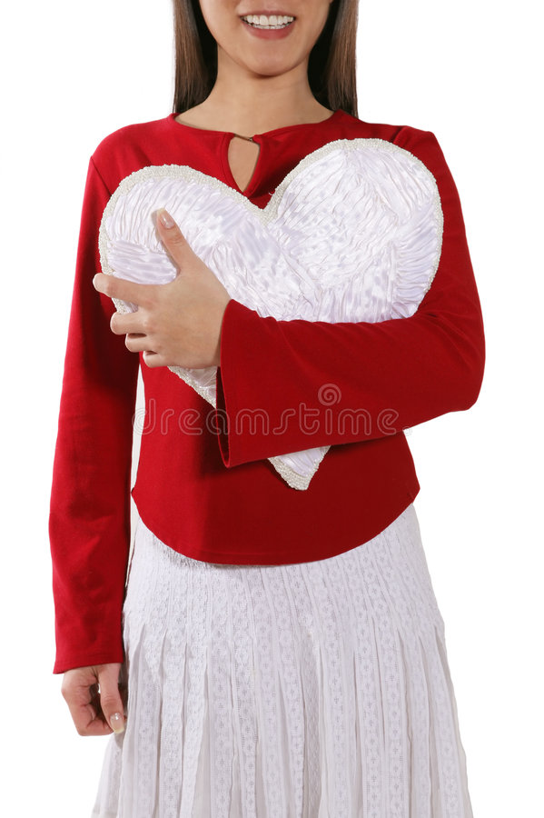 Download Woman Holding Heart Stock Image - Image: 1896831