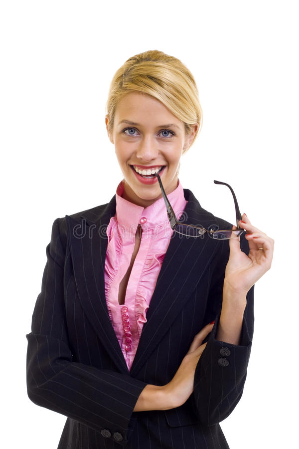 Free Woman Holding Her Glasses Royalty Free Stock Images - 13495309