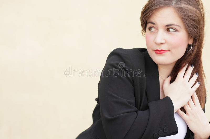 Woman Holding Her Hair Royalty Free Stock Photo