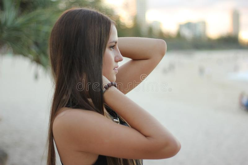 Woman Holding Her Neck Free Public Domain Cc0 Image
