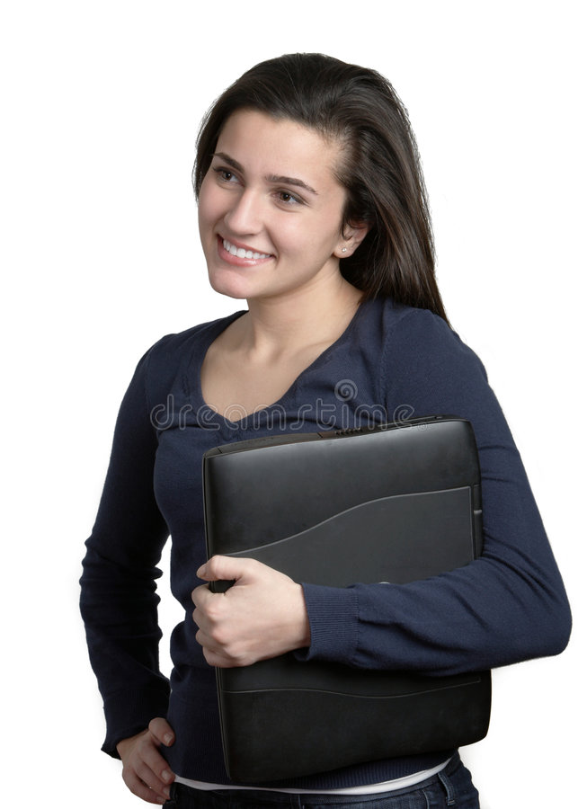 Download Woman Holding Laptop Computer Royalty Free Stock Photos - Image: 7888398