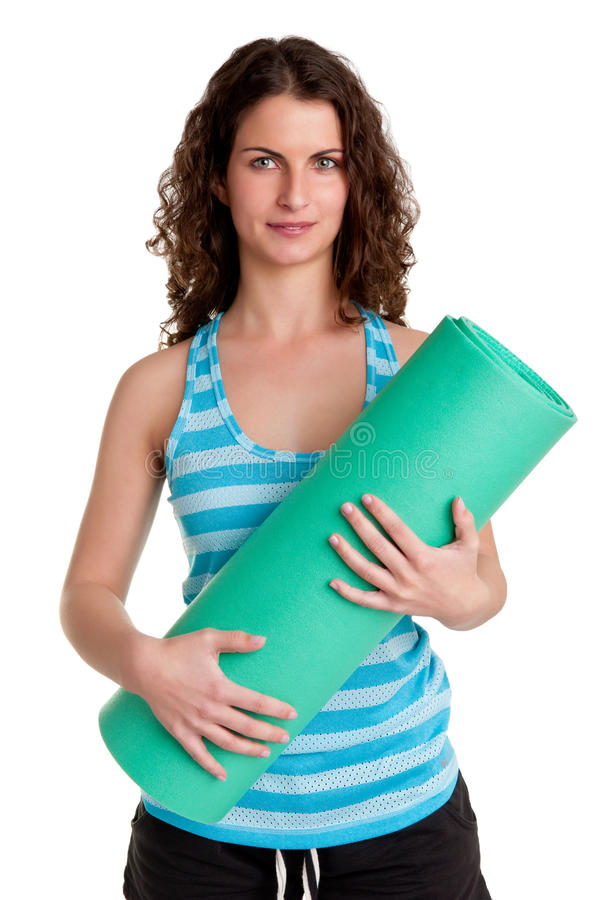 Download Woman Holding A Mat Stock Photos - Image: 30806413