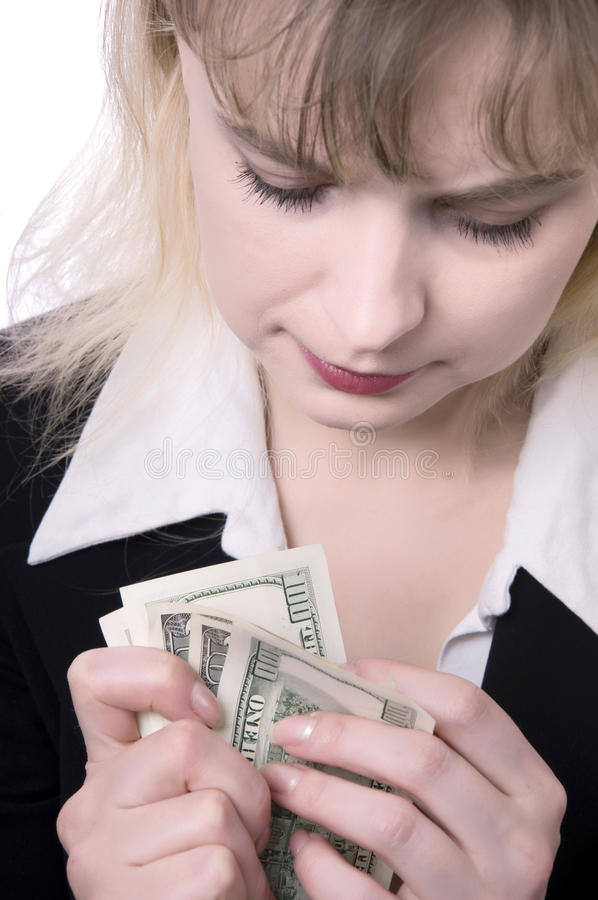 Download Woman Holding Money stock image. Image of bills, greed - 13249667