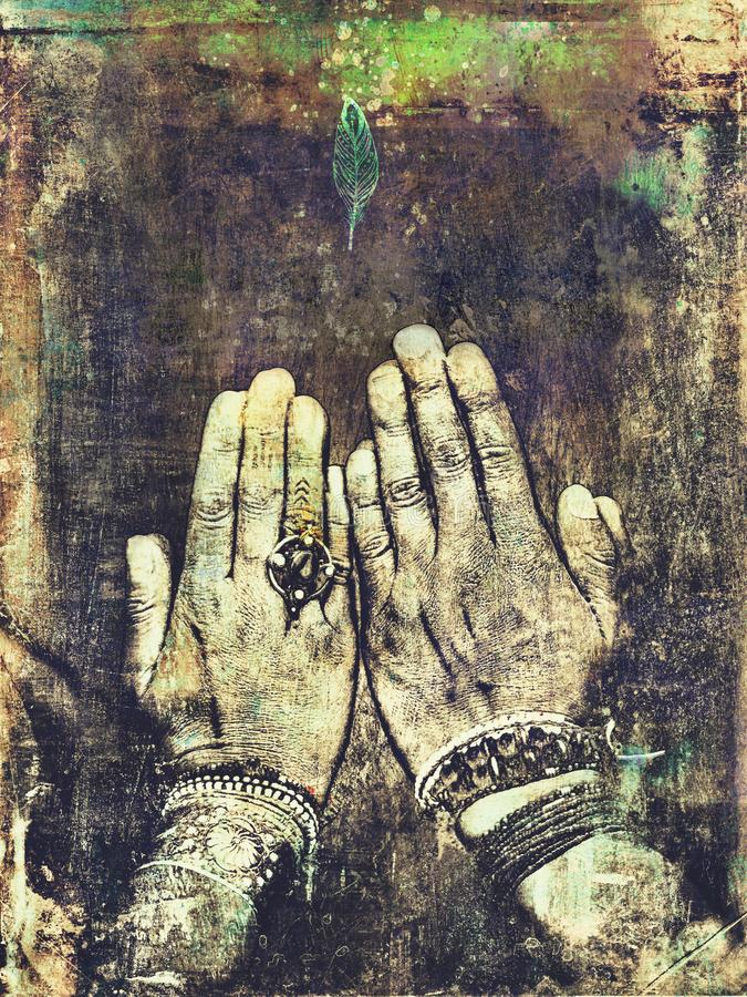 Two Hands In Intention Alignment royalty free stock photos