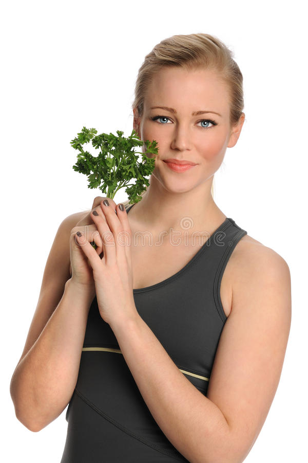 Download Woman Holding Parsley Royalty Free Stock Images - Image: 23061349