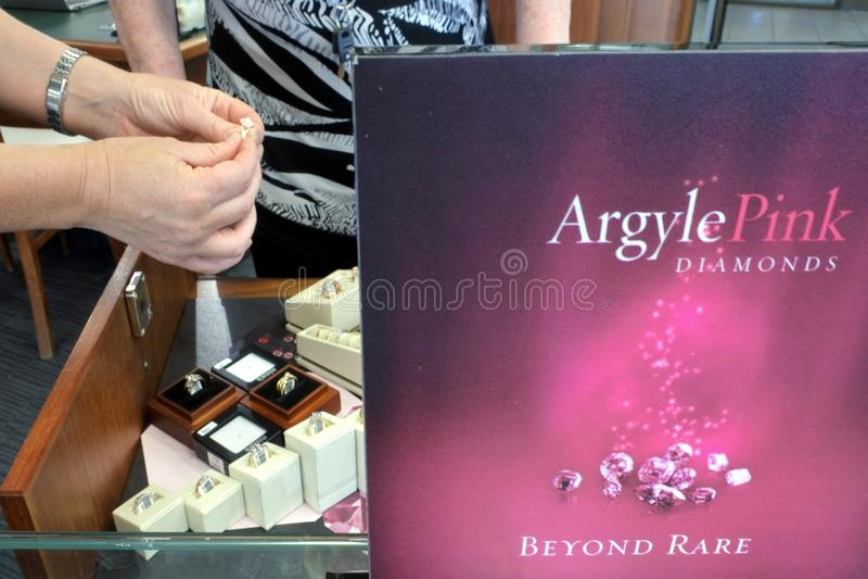 Argyle Pink Diamonds | Pink Kimberley Western Australia stock image