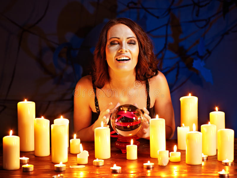 Download Woman Holding Scrying Ball . Stock Image - Image of ball, girl: 30465293