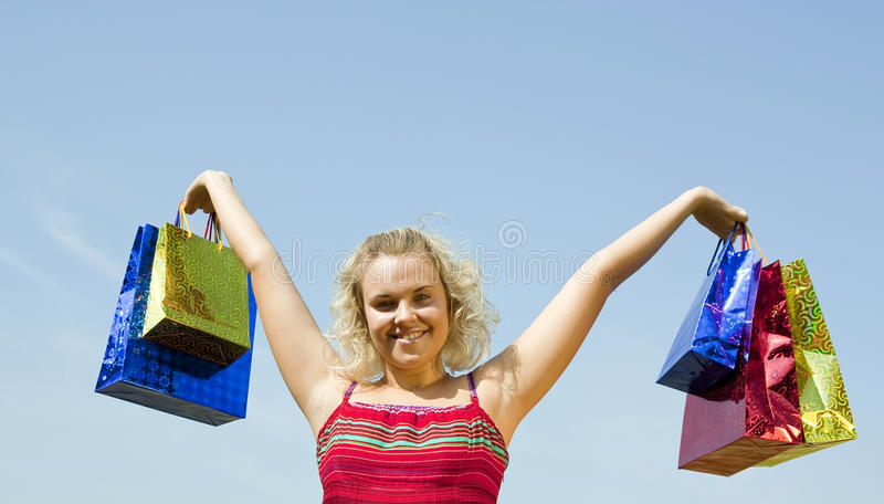 Download Woman Holding   Shopping Bags Stock Photo - Image: 15357962