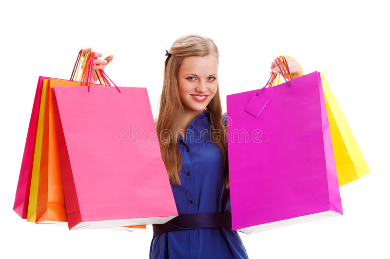 Download Woman Holding Shopping Bags Stock Photo - Image: 28858180