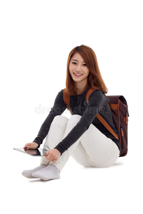 Download Woman Holding Tablet Computer Stock Image - Image: 28915715