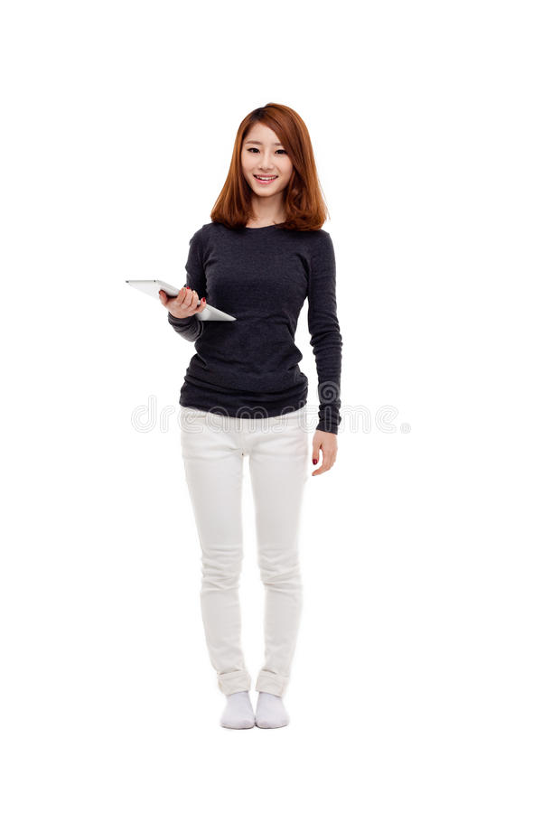 Download Woman Holding Tablet Computer Stock Photo - Image: 28915800
