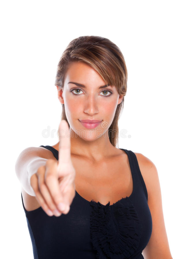 Free Woman Holding Up One Finger Royalty Free Stock Images - 17506469