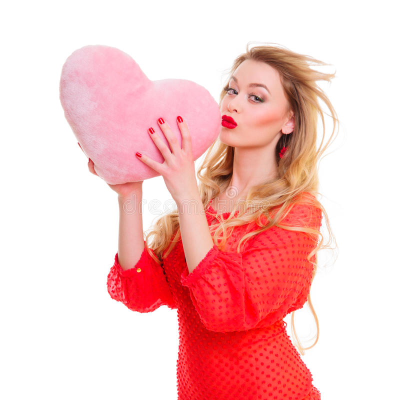 Download Woman Holding Valentines Heart Stock Image - Image: 29016271