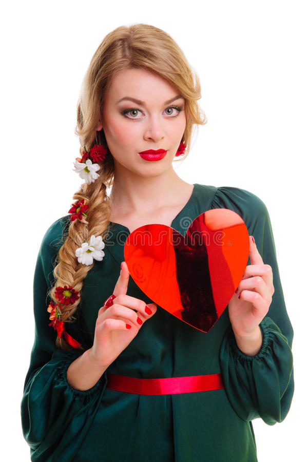 Download Woman Holding Valentines Heart Stock Photo - Image: 29016360