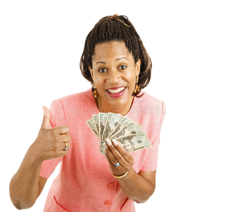 Download Woman Holds Cash - Thumbsup Stock Photo - Image: 18043688