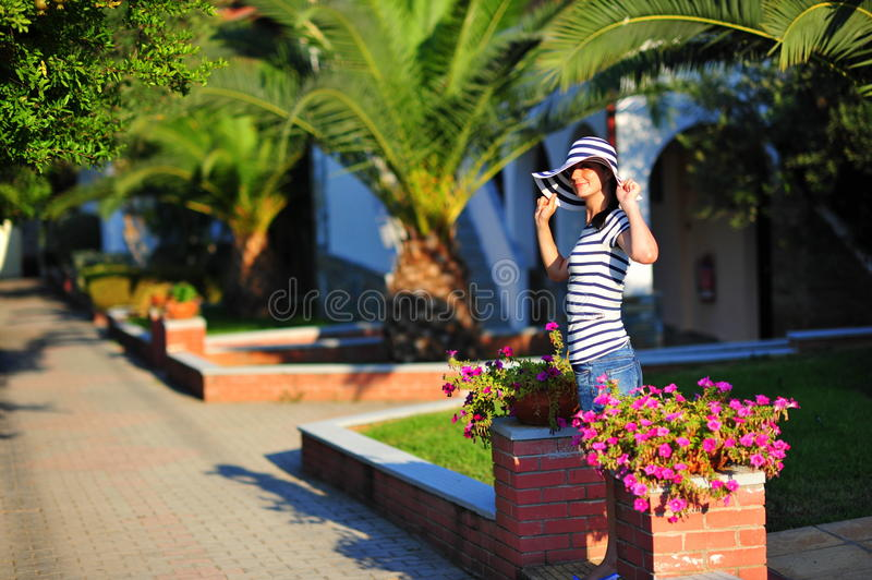 Download Woman On Holiday - Exotic Resort Stock Photo - Image: 20739566