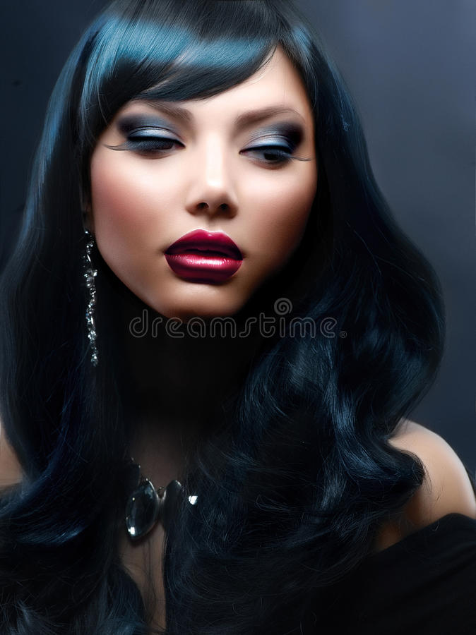 Download Woman With Holiday Makeup stock image. Image of dark - 27404957