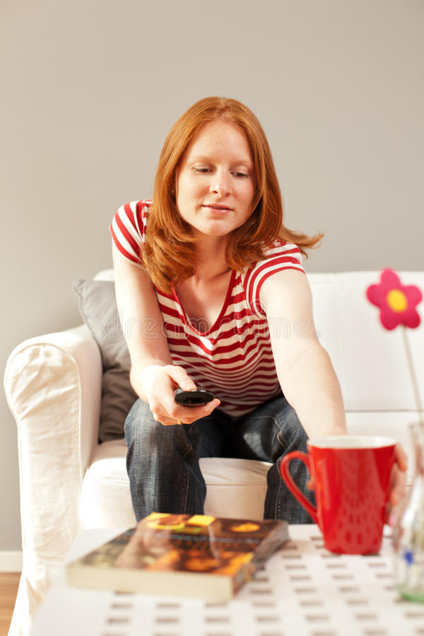 Download A Woman At Home, Getting A Drink Royalty Free Stock Photos - Image: 25582828