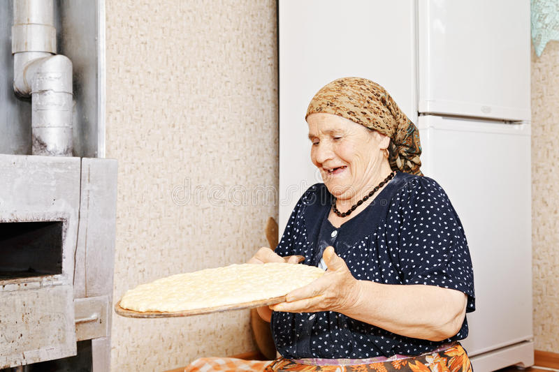 Download Woman with homemade bread stock photo. Image of bakery - 28074024