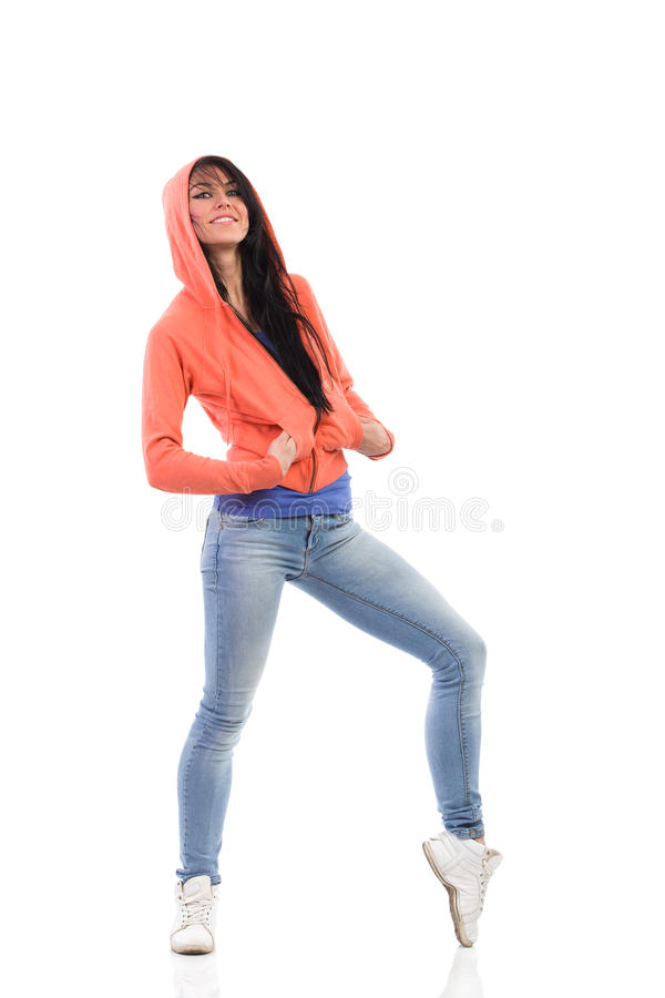 Download Woman in the hood stock photo. Image of expressing, caucasian - 40702988