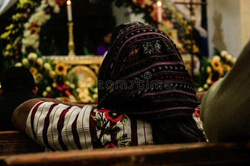 Woman With Hood Sitting In Church Free Public Domain Cc0 Image