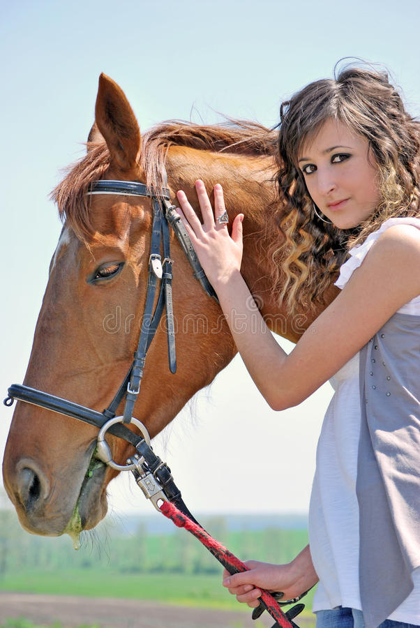 Download Woman And Horse Royalty Free Stock Image - Image: 14282426