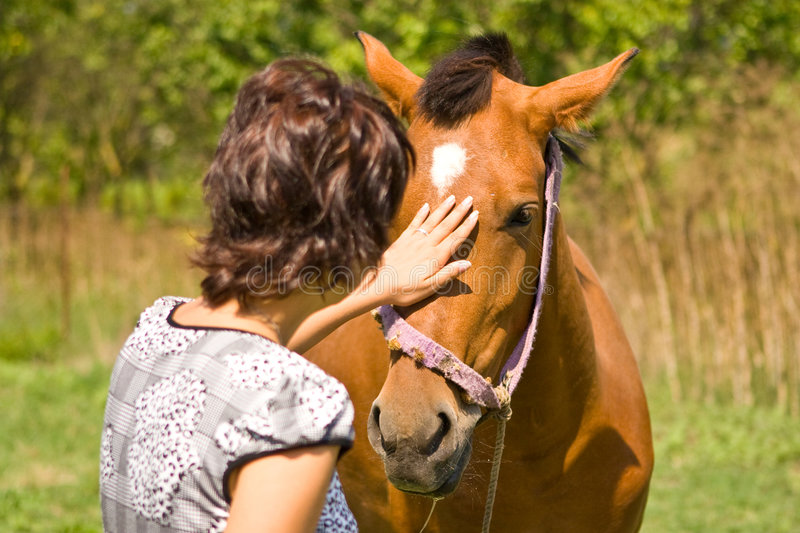 Download Woman And Horse Stock Photography - Image: 2982352