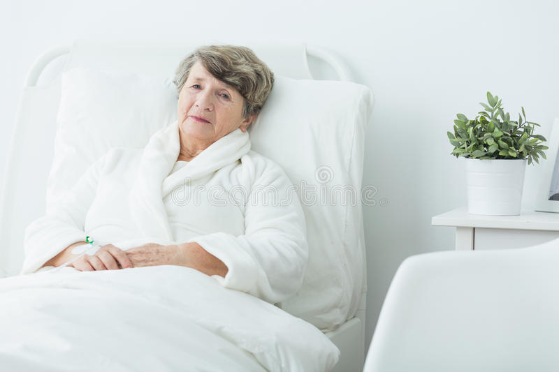 Woman In Hospital Stock Image. Image Of Medical, Care