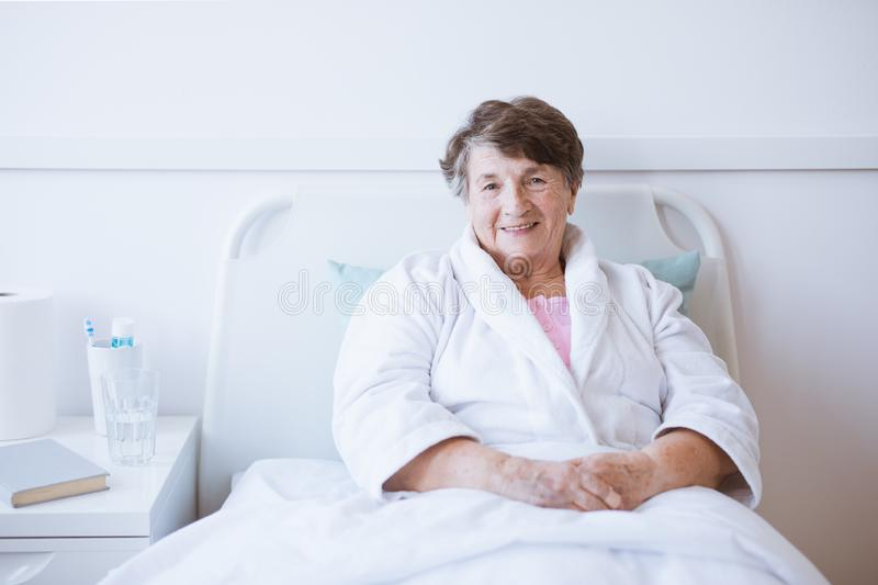Woman in hospital royalty free stock photography