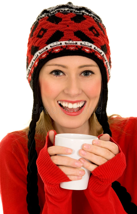 Download Woman with hot drink stock photo. Image of cold, casual - 11560764