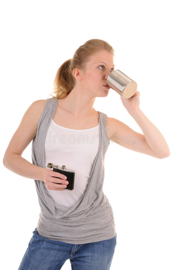 Download Woman with hot drink stock image. Image of beautiful - 14103969