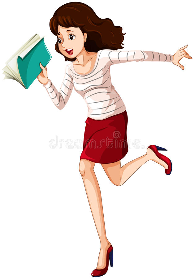 Download A woman in a hurry stock illustration. Image of isolated - 34313306
