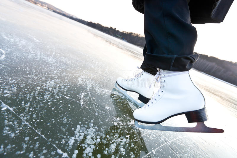 Download Woman Ice Skates With Overview Stock Photo - Image of female, overview: 23319046