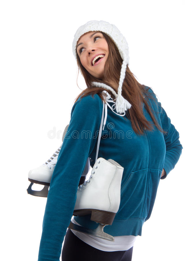 Download Woman With Ice  Skating Winter Stock Image - Image: 26315955