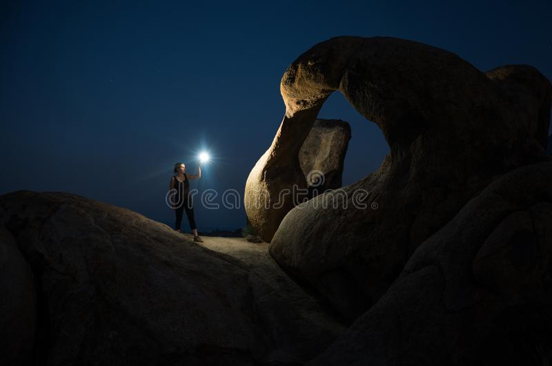 Mobius Arch in Alabama Hills royalty free stock photography