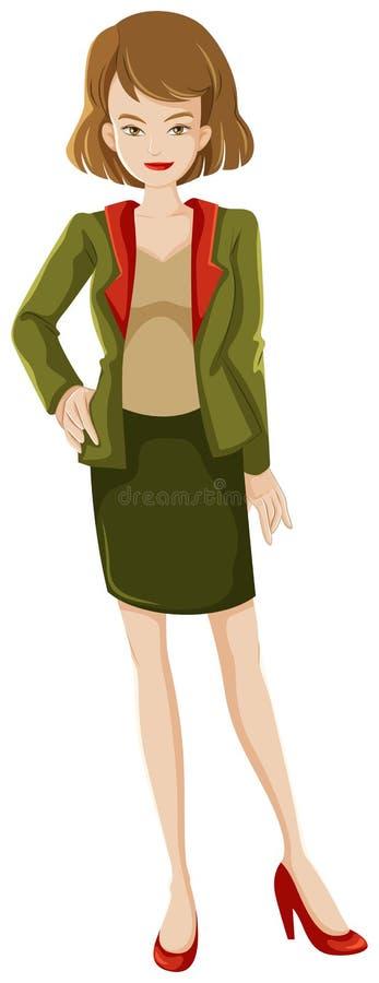 Download Woman stock illustration. Illustration of elegant, head - 33835528