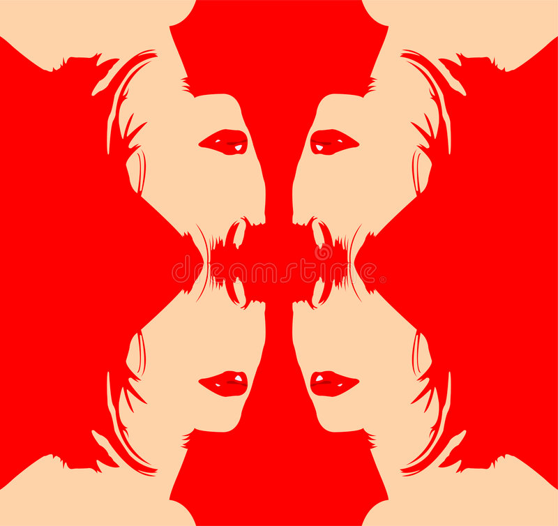 Download Woman illustrations stock vector. Illustration of mirror - 2499469