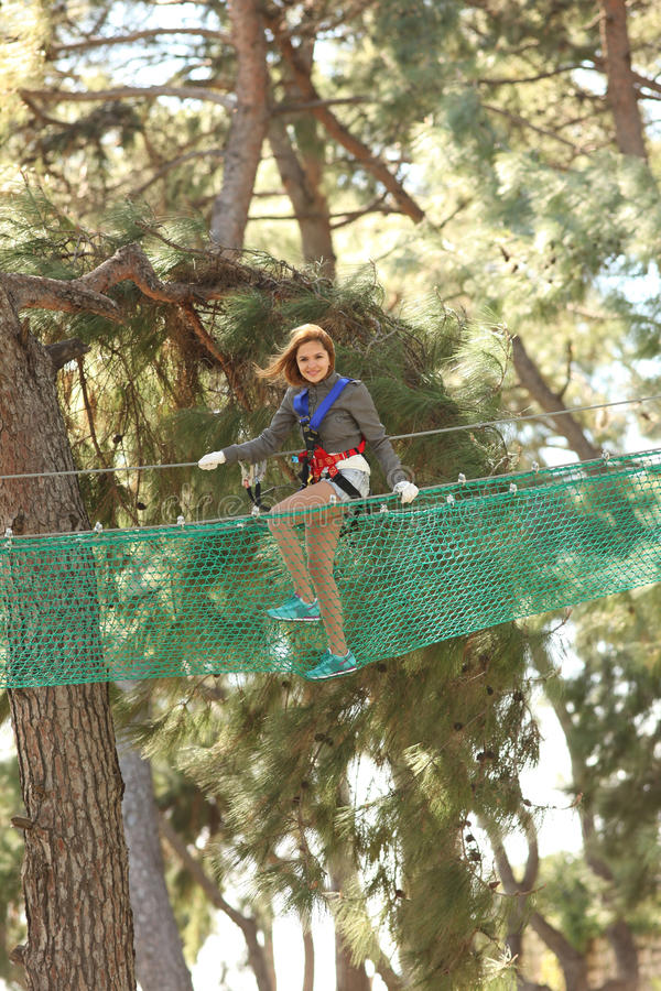 Free Woman In Adventure Park Stock Photos - 13472633