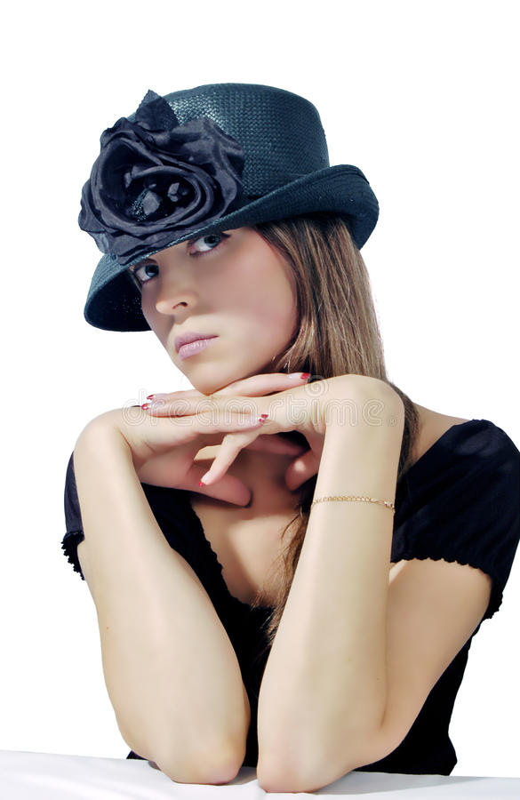 Free Woman In Black Hat 2 Stock Photography - 11268172