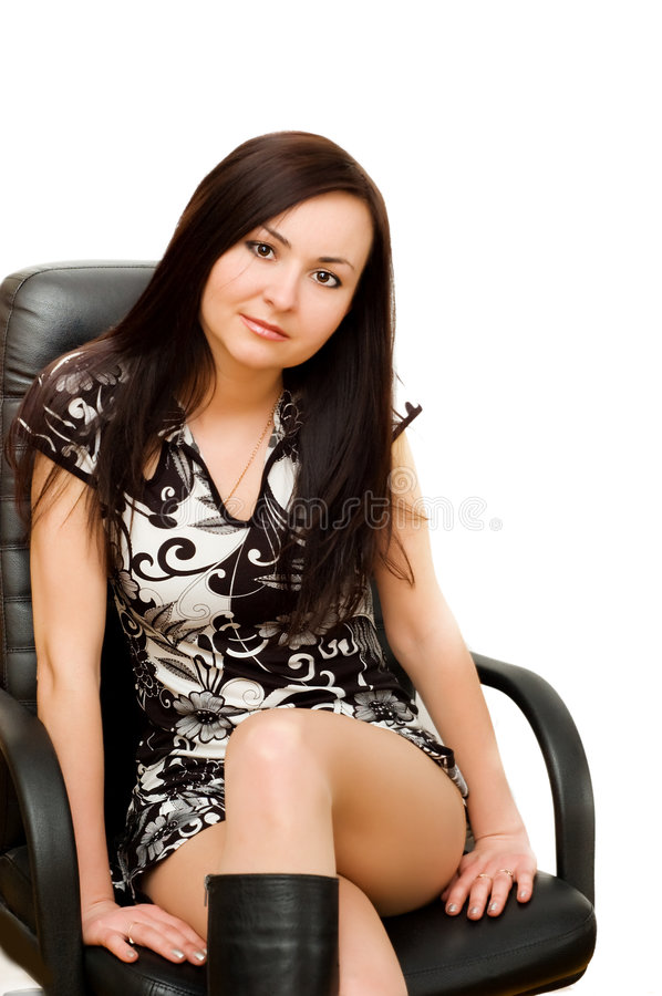 Free Woman In Chair Stock Photos - 8725853