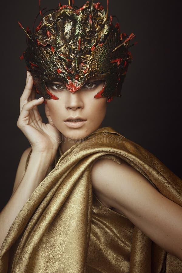 Free Woman In Creative Head Wear Royalty Free Stock Photo - 62904245