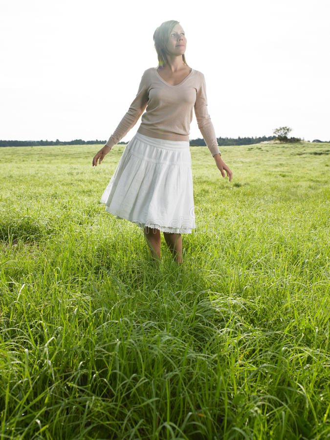 Free Woman In Field Stock Images - 12579854