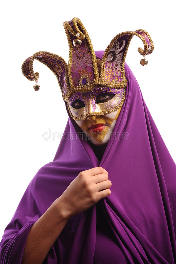 Free Woman In Mystery Half Mask Stock Photography - 15584462