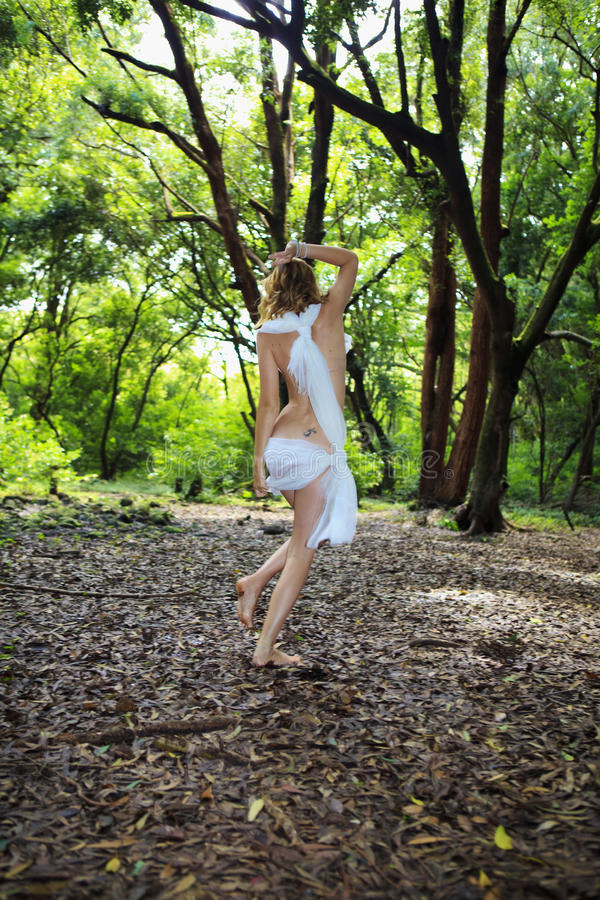Free Woman In White Chiffon Stock Images - 11057374
