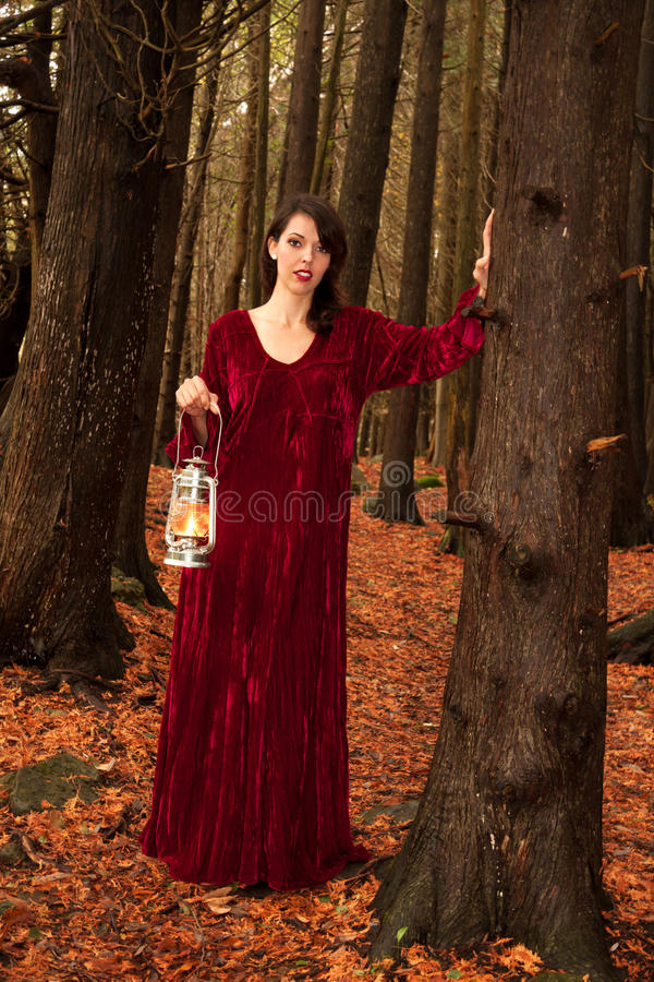 Free Woman In Woods Stock Images - 30327754