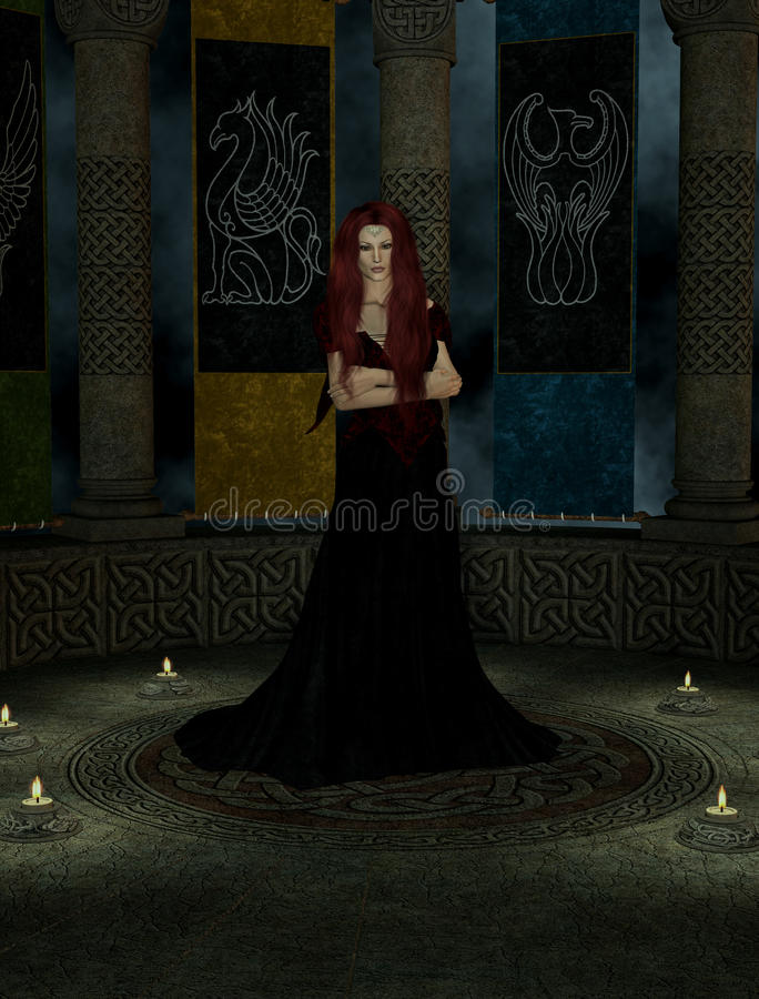 Download A Woman Inside A Castle stock illustration. Image of keep - 10019668